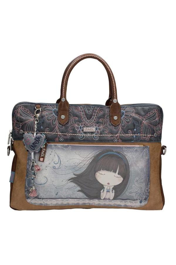Τσάντα laptop χαρτοφύλακας μπλε Anekke Moon 23746.1