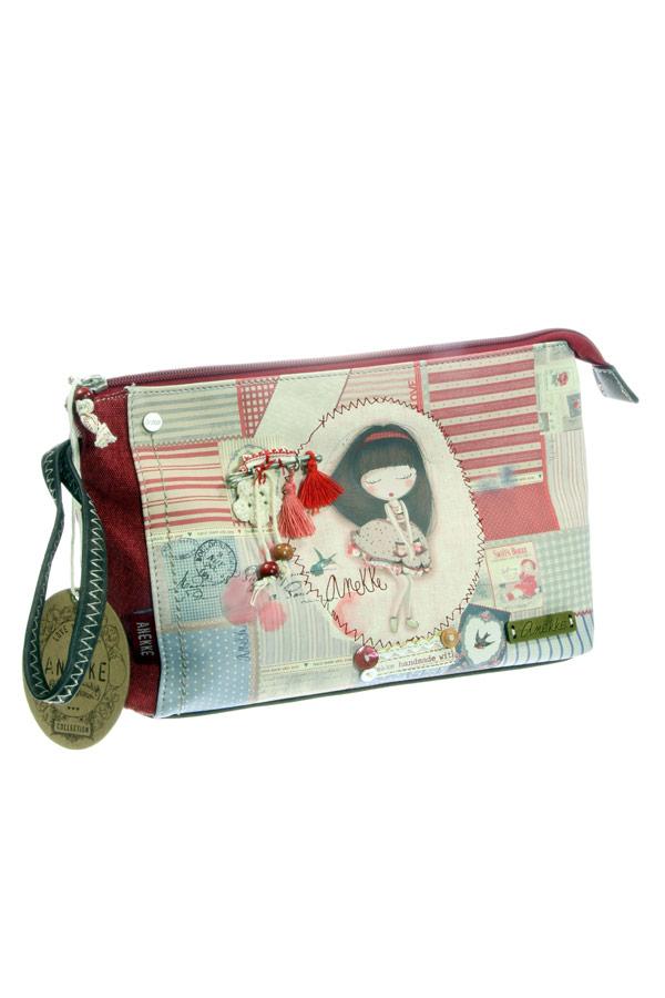 Τσάντα φάκελος χειρός κόκκινη Anekke - Patchwork 22767.8
