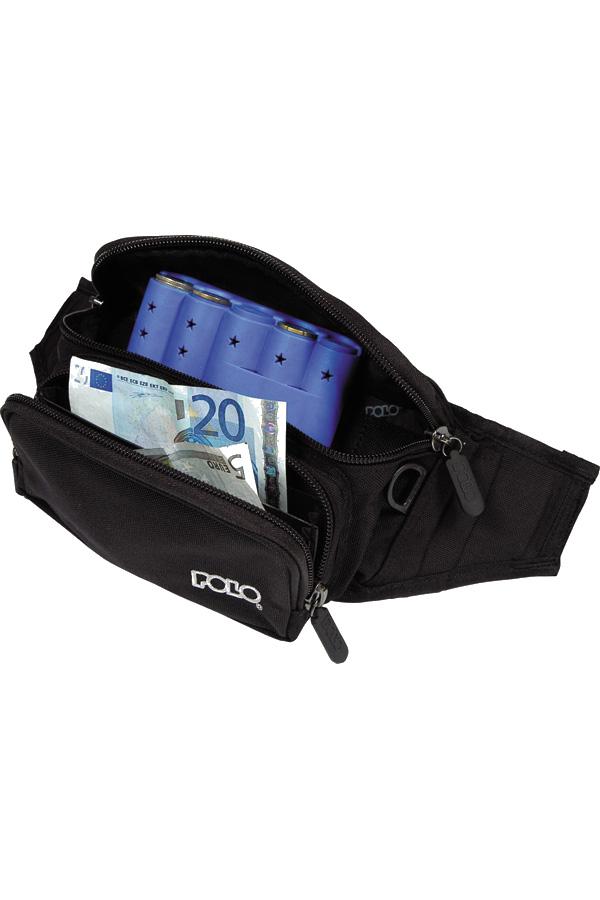 Τσαντάκι μέσης για κερματοθήκη POLO BANANA EURO μαύρο 908027