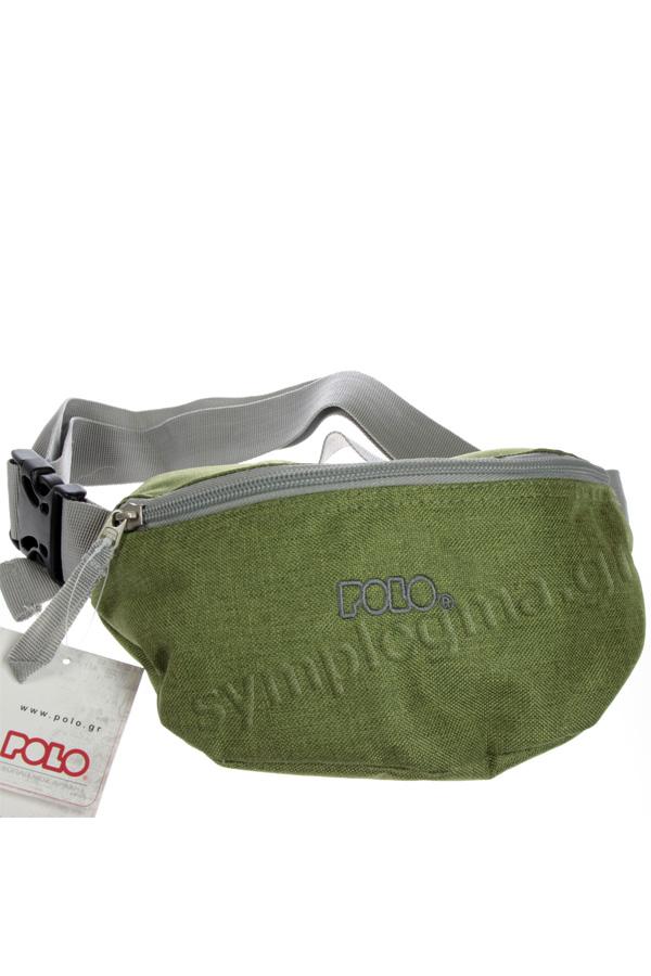 Τσαντάκι μέσης POLO WAIST BAG COLOUR SIMPLE λαχανί - γκρι 90885491