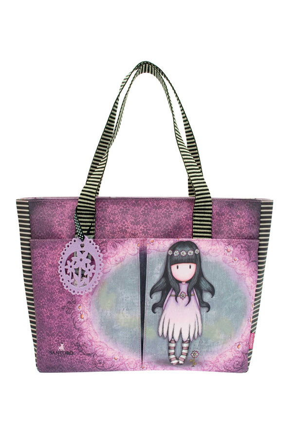 Τσάντα Santoro gorjuss shopper bag Oops a daisy 552GJ01