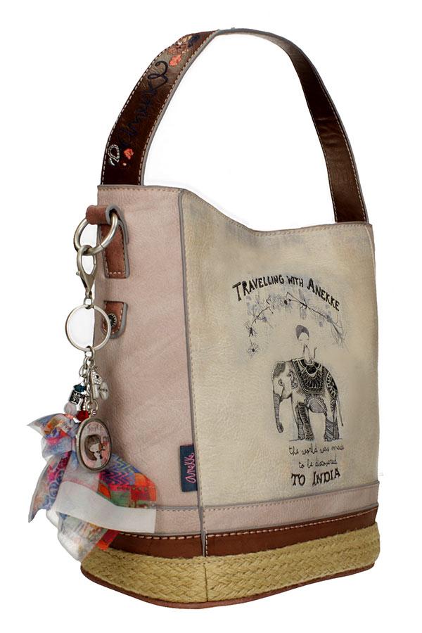 Anekke India Τσάντα ώμου μεσαία χιαστί 28872-46