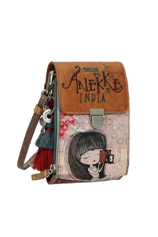 Anekke India Τσαντάκι ώμου κλιπ χιαστί 28877-28