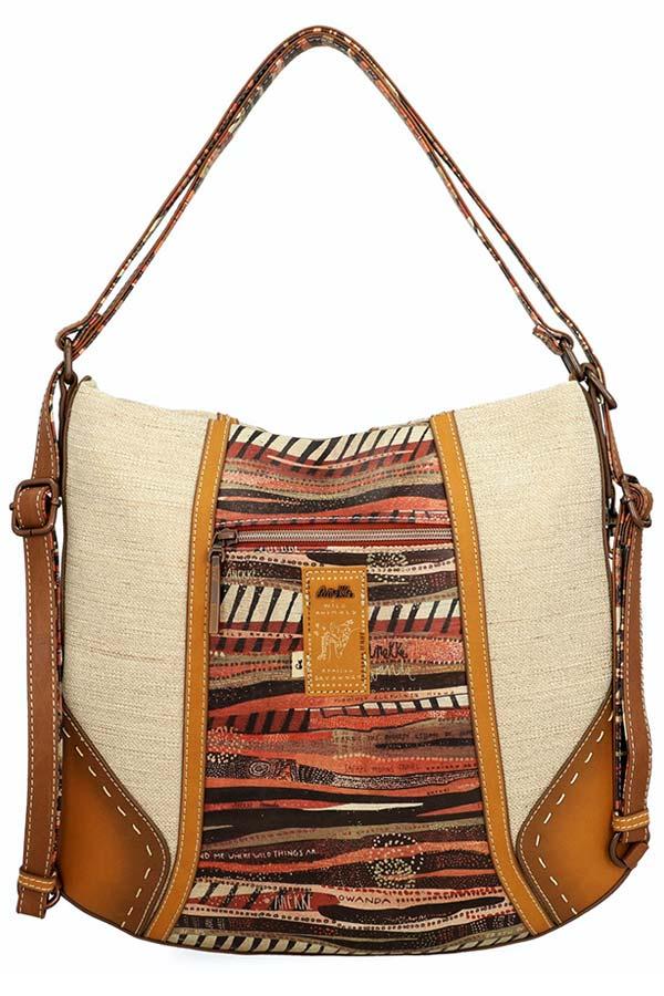 Anekke Kenya Safari Τσάντα ώμου πολυμορφική μεγάλη 32722-05-065