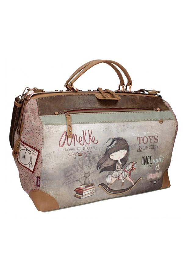 Anekke - Stories 25814-1 τσάντα ταξιδίου καφέ - γκρι