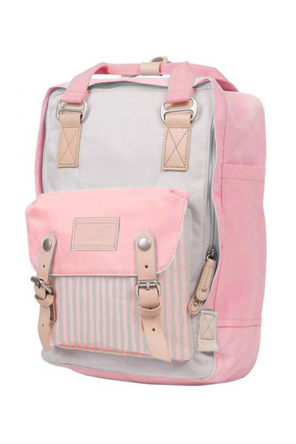 Doughnut Backpack Σακίδιο πλάτης Macaroon Stripe Stone x Light Coral D010-0893-F