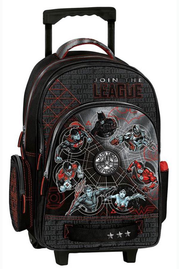 Justice League Σχολική τσάντα τρόλεϊ Graffiti 195751