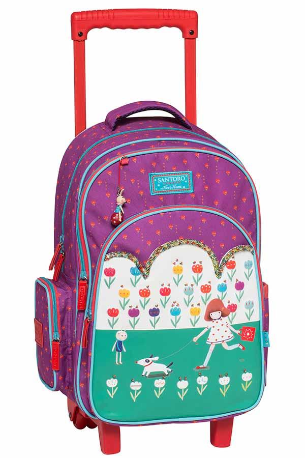 Santoro Kori Kumi Σχολική τσάντα τρόλεϊ Tulips Graffiti 207751