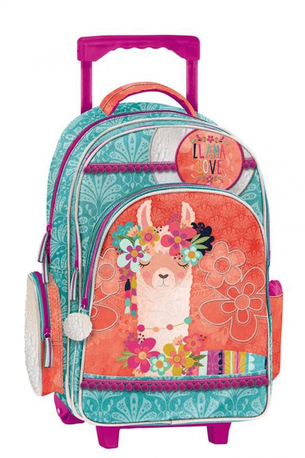 Lama love Σχολική τσάντα τρόλεϊ Graffiti 192251