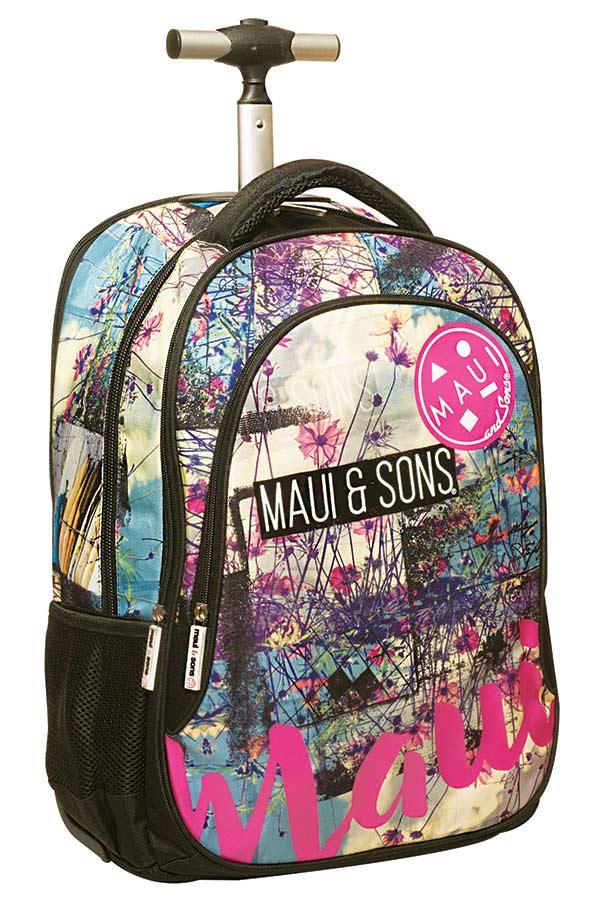 51f91d71a05 Σχολική τσάντα τρόλεϊ Maui and Sons Floral beach 33983074 ...