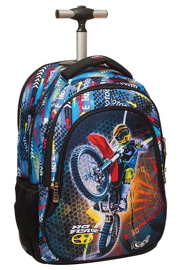 Σχολική τσάντα τρόλεϊ NO FEAR Motocross 34744074