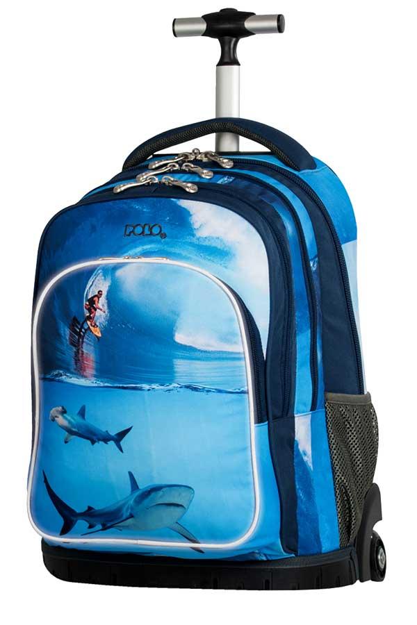 Σχολική τσάντα τρόλεϊ POLO BACKPACK SHARK surf 90121705