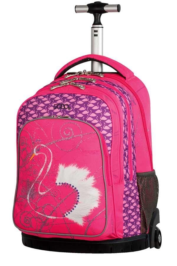 d18be285cd Σχολική τσάντα τρόλεϊ POLO BACKPACK SHARK flamingo 90121716 ...