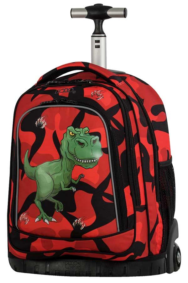 Σχολική τσάντα τρόλεϊ POLO BACKPACK BIKE δεινόσαυρος 90121803