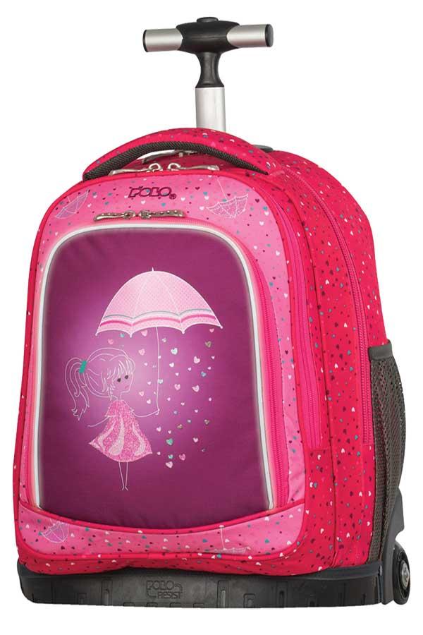 Σχολική τσάντα τρόλεϊ POLO BACKPACK BIKE κοριτσάκι 90121819