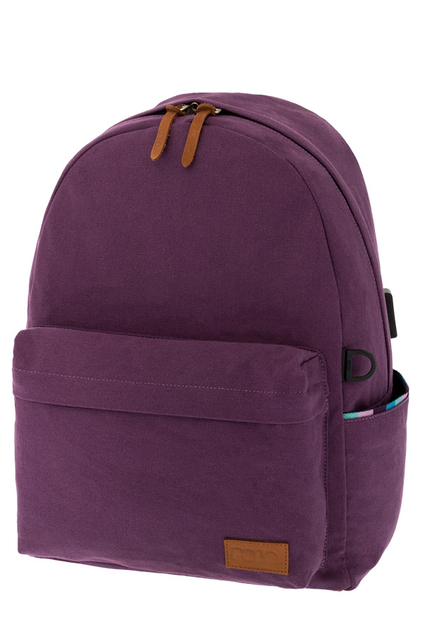 POLO BACKPACK Σακίδιο CANVAS μωβ 90124513