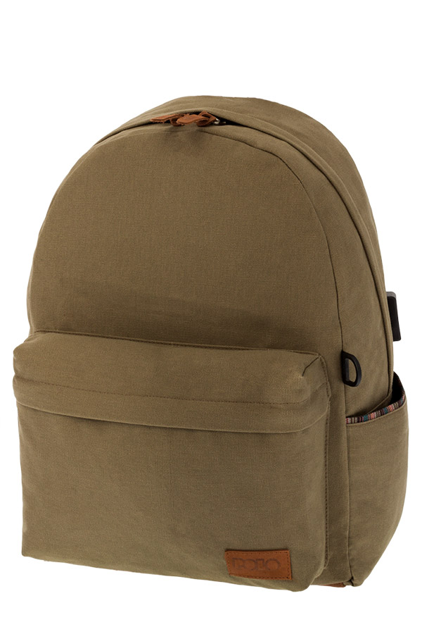 POLO BACKPACK Σακίδιο CANVAS χακί 90124531