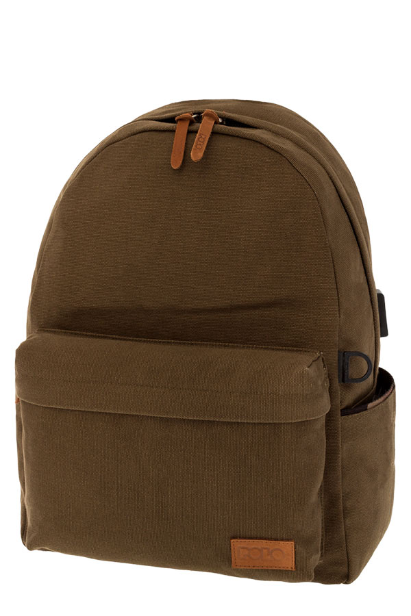 POLO BACKPACK Σακίδιο CANVAS λαδί 90124536