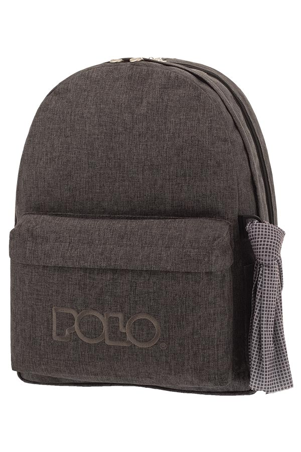 3f34cd1214 POLO BACKPACK Σακίδιο DOUBLE WITH SCARF jean style γκρι 90123580 2019