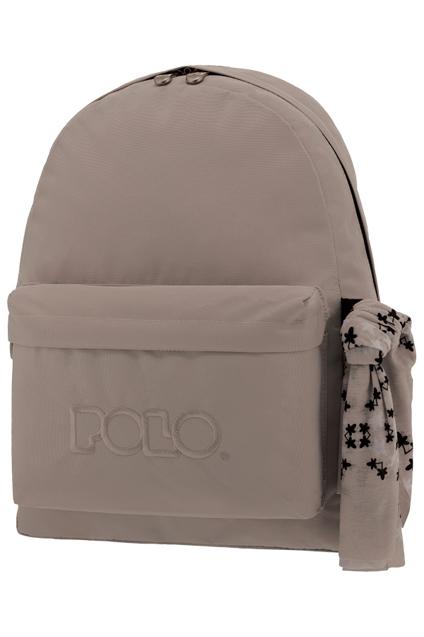 d385aa6251e Σακίδιο POLO BACKPACK WITH SCARF γκρι ανοιχτό 90113549