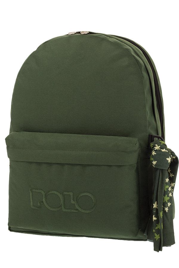 a3d9adbdc9 Σακίδιο POLO BACKPACK DOUBLE WITH SCARF πράσινο σκούρο 90123531