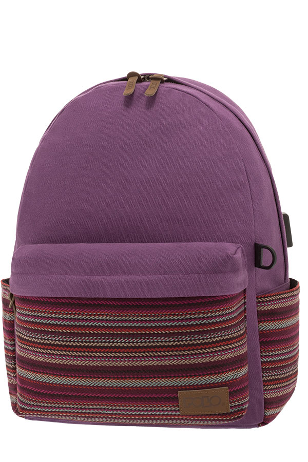 1812d02ff6 POLO BACKPACK Σακίδιο CANVAS μωβ 90124561