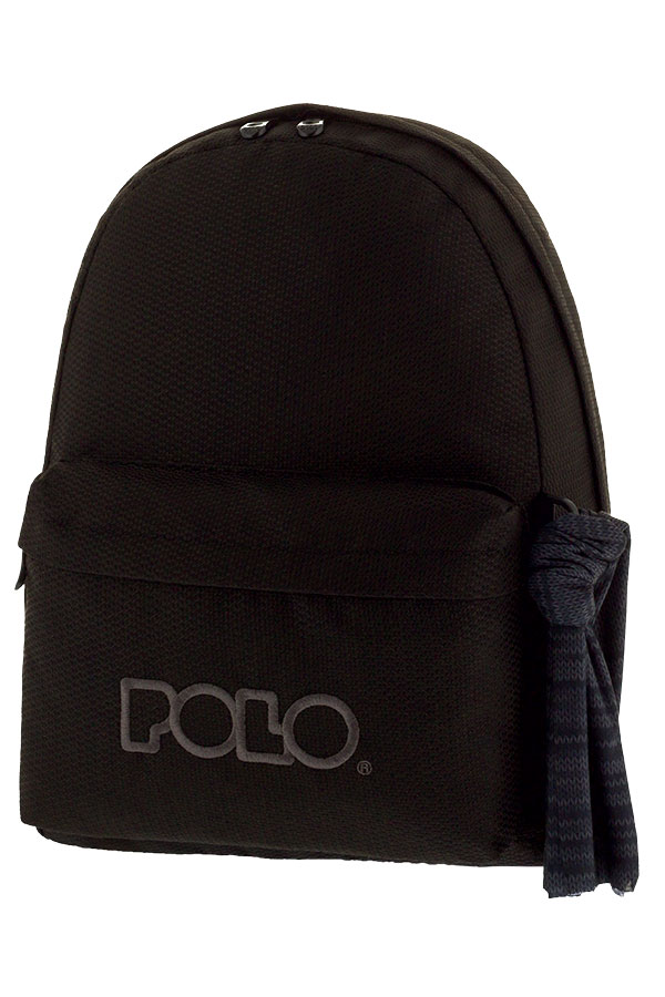 f96b79826e POLO BACKPACK Σακίδιο KNIT WITH SCARF μαύρο 90113570