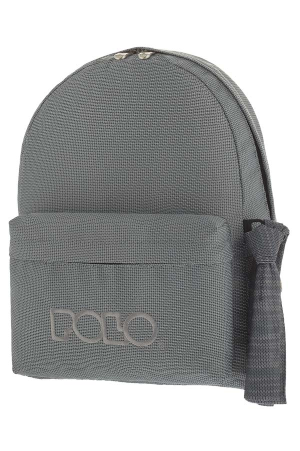 POLO BACKPACK Σακίδιο KNIT WITH SCARF γκρι 90113571