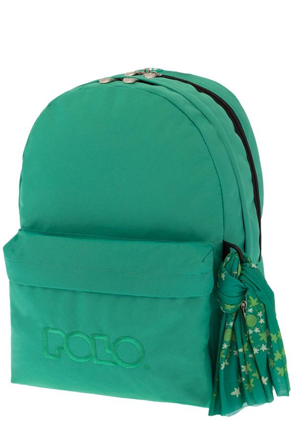 Σακίδιο POLO BACKPACK DOUBLE WITH SCARF βεραμάν 90123523