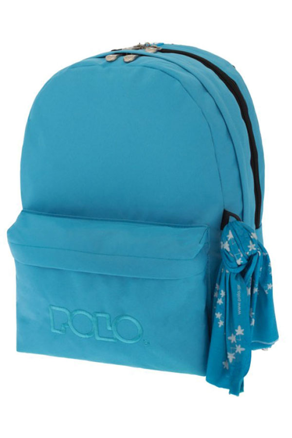 0e3f510756 Σακίδιο POLO BACKPACK DOUBLE WITH SCARF γαλάζιο ανοιχτό 90123517 2018