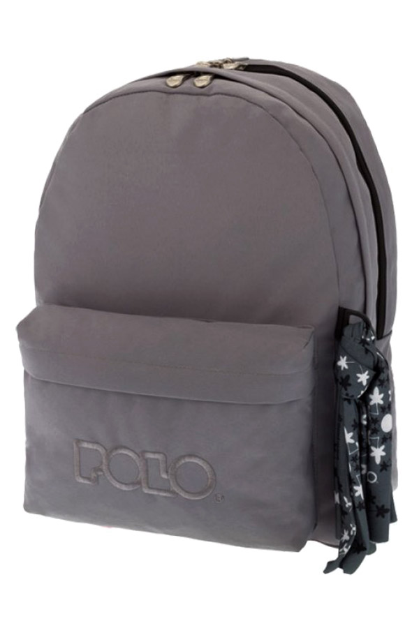 Σακίδιο POLO BACKPACK DOUBLE WITH SCARF γκρι 90123509