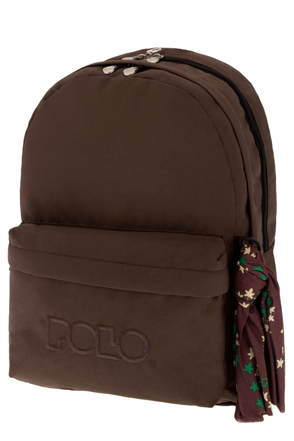 Σακίδιο POLO BACKPACK DOUBLE WITH SCARF καφέ 90123536 2018