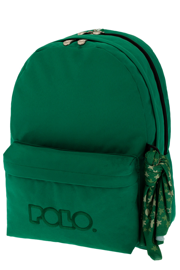 Σακίδιο POLO BACKPACK DOUBLE WITH SCARF πράσινο 90123515