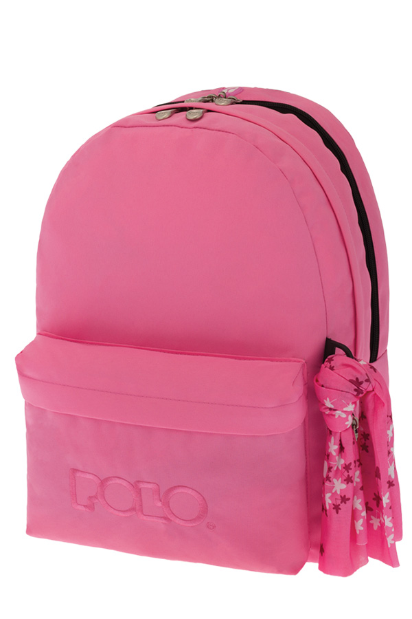 Σακίδιο POLO BACKPACK DOUBLE WITH SCARF ροζ 90123516