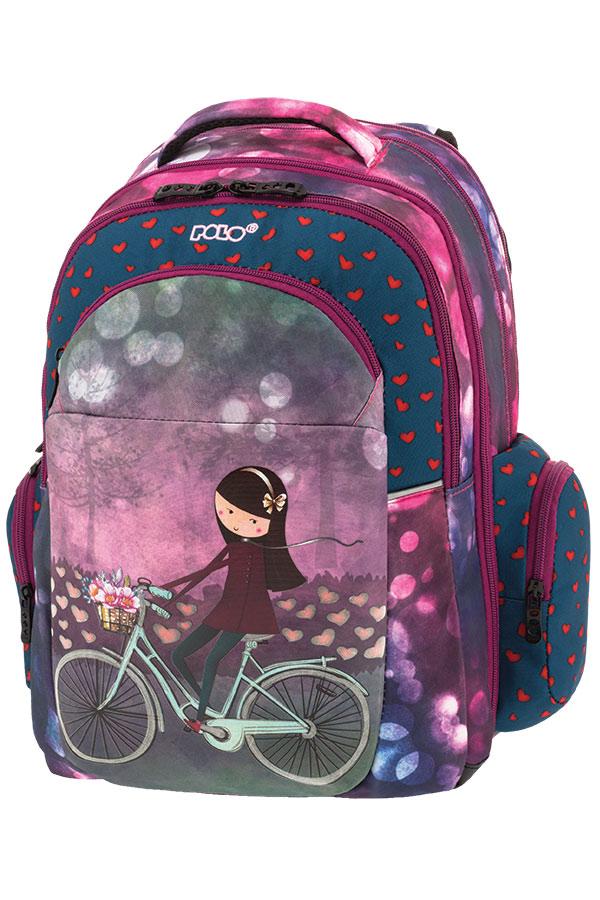 POLO BACKPACK Σακίδιο EXPAND-GLOW κορίτσι στο ποδήλατο 90125419