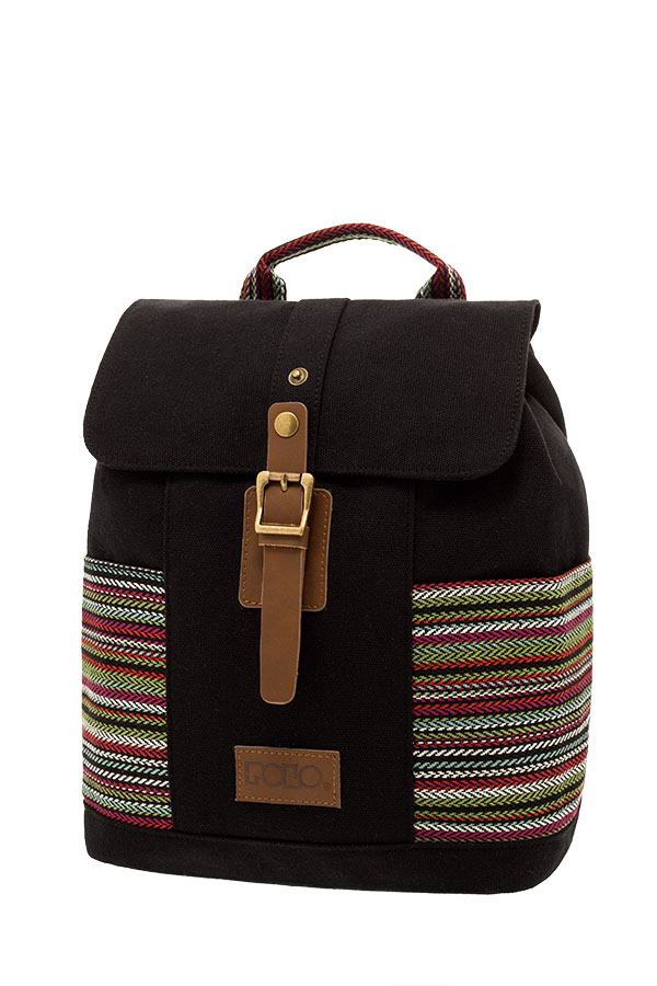 POLO BACKPACK Σακίδιο mini CANVAS LADY μαύρο 90715260