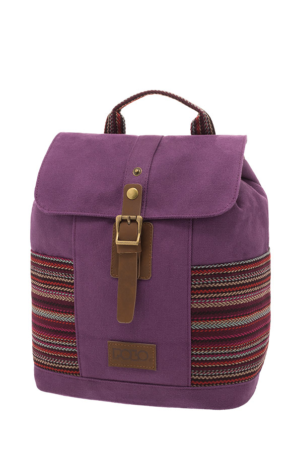 POLO BACKPACK Σακίδιο mini CANVAS LADY μωβ 90715261