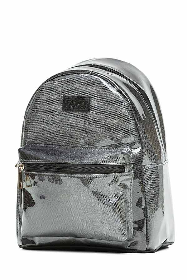 Σακίδιο mini POLO BACKPACK QUENNA glitter μαύρο 9071598040 2020