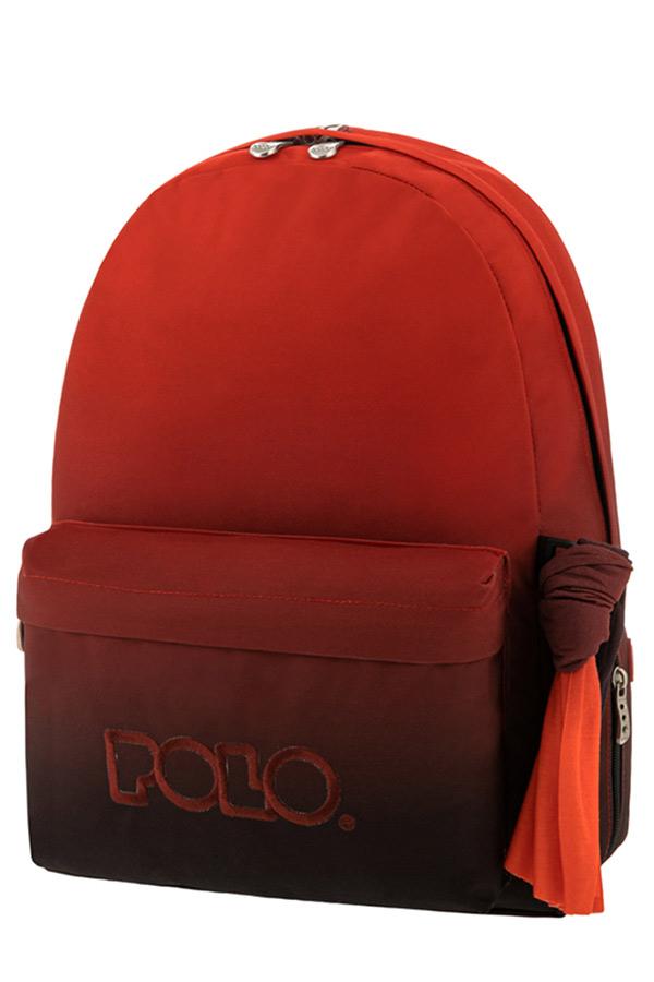 Σακίδιο POLO ORIGINAL WITH SCARF ombre κόκκινο/μαύρο 9011358082 2021