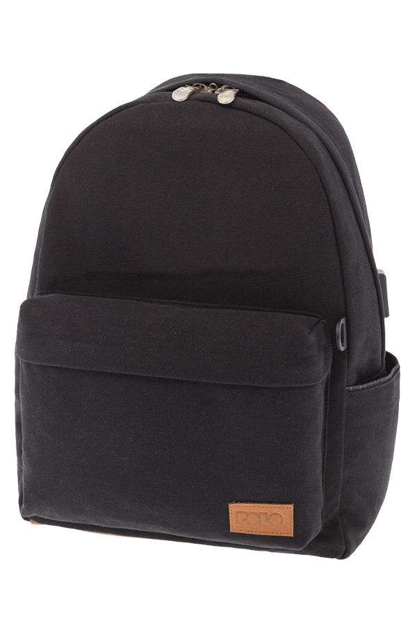 POLO BACKPACK Σακίδιο CANVAS μαύρο 90124502