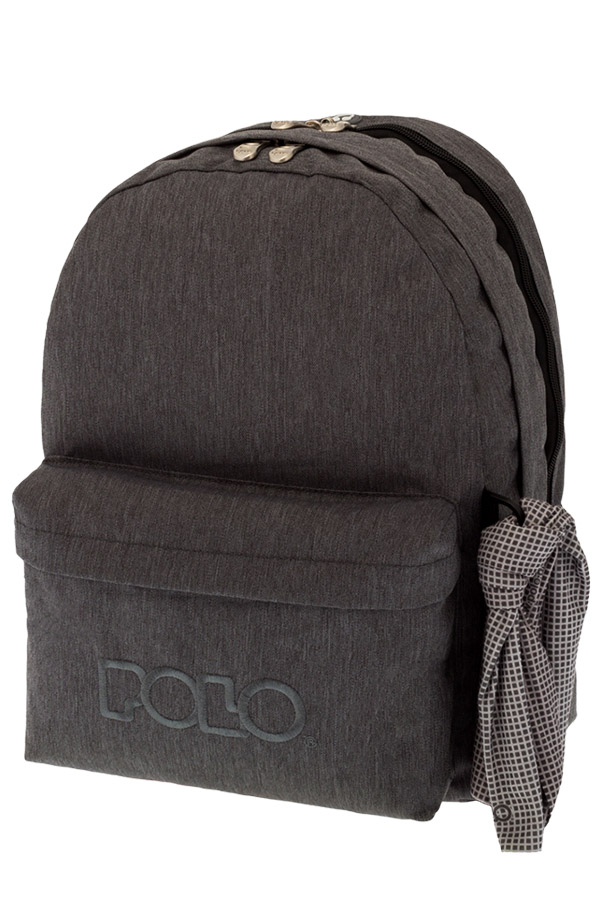 Σακίδιο POLO BACKPACK DOUBLE WITH SCARF jean style ανθρακί 90123590