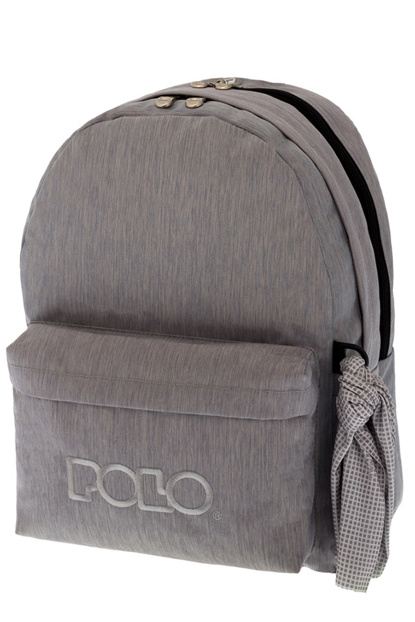Σακίδιο POLO BACKPACK DOUBLE WITH SCARF jean style ανοιχτό γκρι 90123591 2017