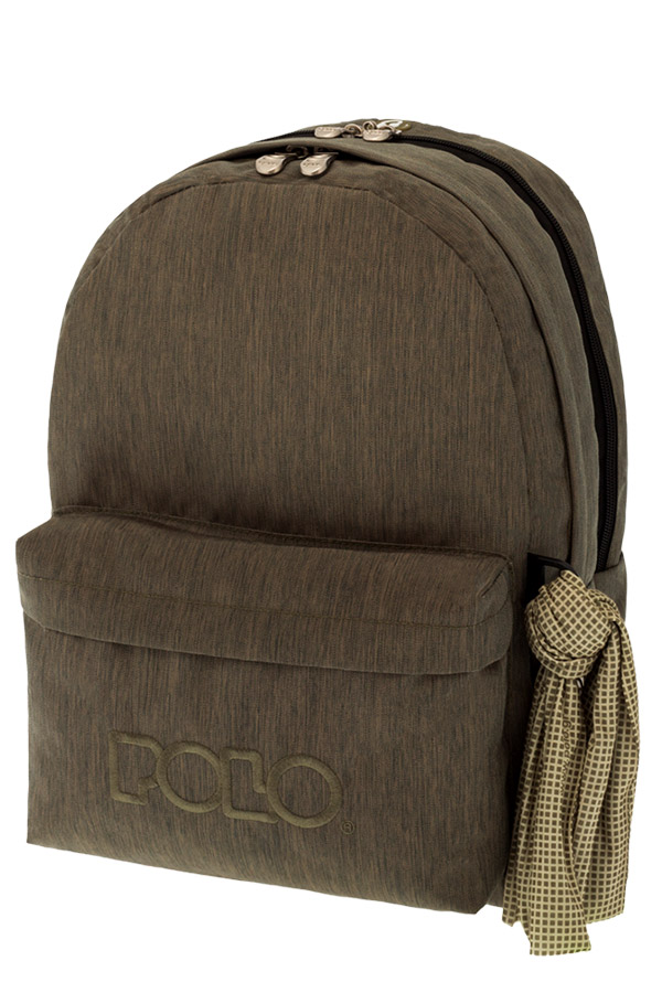 Σακίδιο POLO BACKPACK DOUBLE WITH SCARF jean style λαδί 90123592 2017