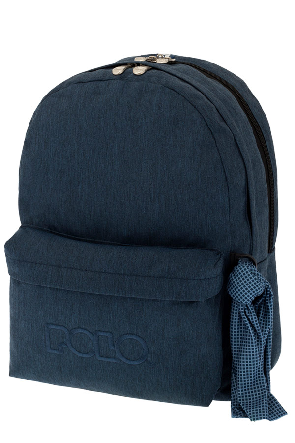 Σακίδιο POLO BACKPACK DOUBLE WITH SCARF jean style μπλε 90123593 2017