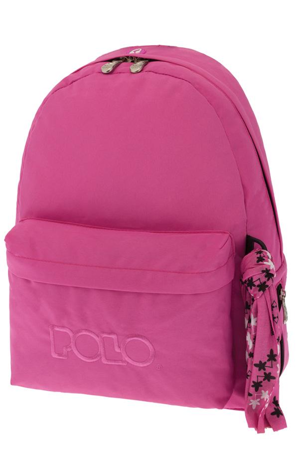 Σακίδιο POLO BACKPACK WITH SCARF ροζ σκούρο 90113519