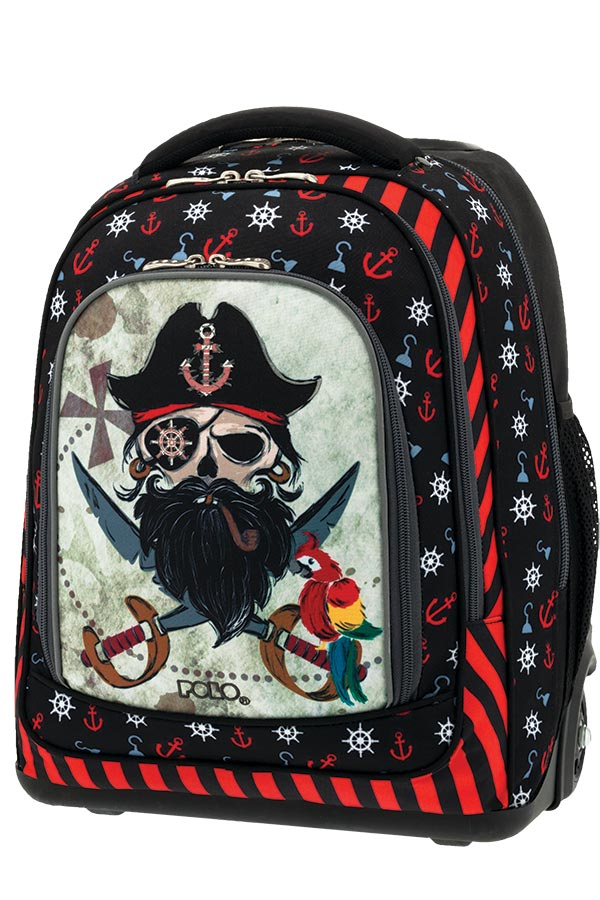 158b5c7b0a4 POLO TROLLEY BAG BELIKE GLOW Σχολική τσάντα τρόλεϊ Πειρατής 90125261 ...
