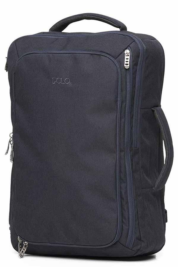 POLO Επαγγελματικό σακίδιο laptop 17,3 inches - χαρτοφύλακας μπλε σκούρο 90201909