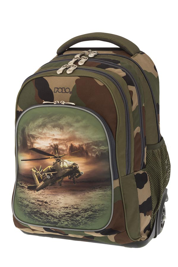 POLO BACKPACK TURBO Σχολική τσάντα τρόλεϊ Ελικόπτερο 90122842
