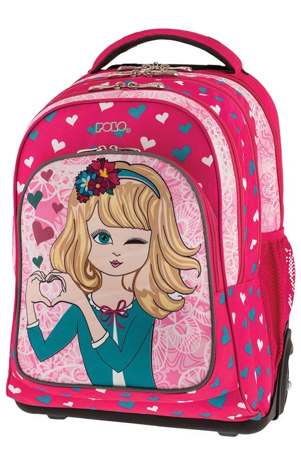 73eb1093045 POLO TROLLEY BAG TROLLER GLOW Σχολική τσάντα τρόλεϊ Κοριτσάκι 90125173 ...