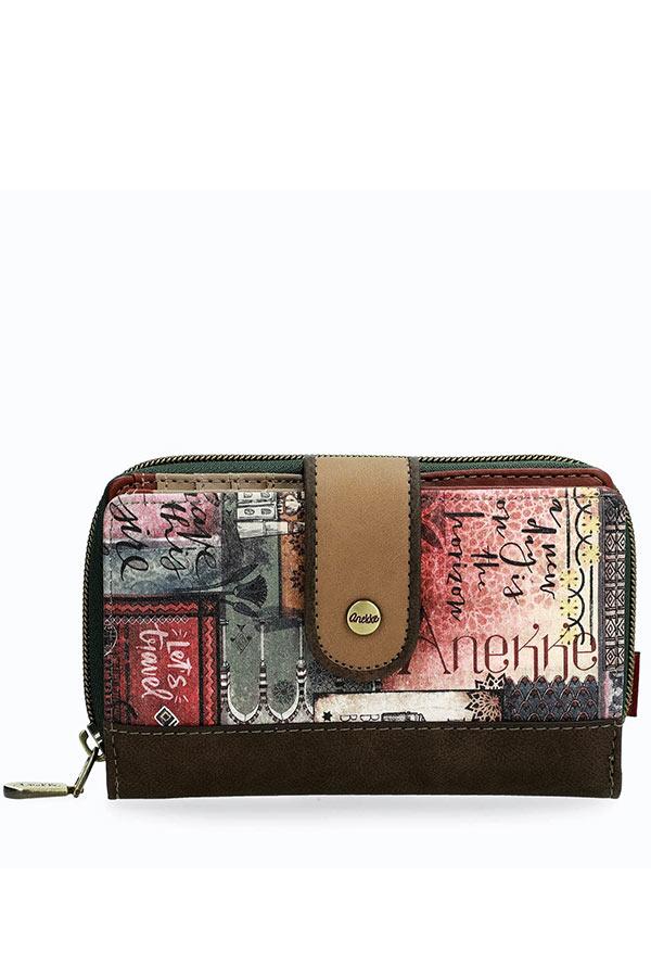 Anekke Egypt Πορτοφόλι μεσαίο με κουμπί 29899-09